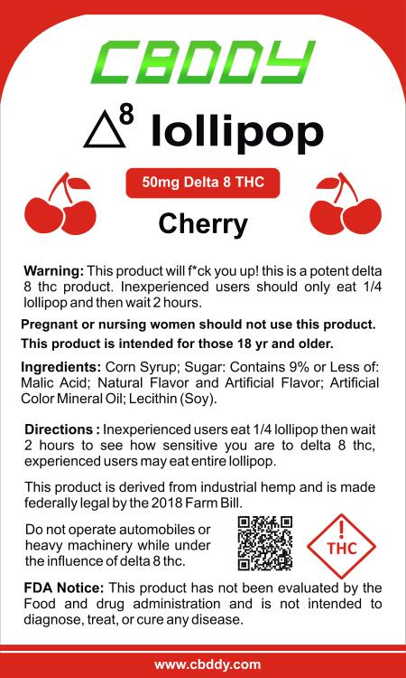 Delta 8 lollipop | Buy Delta 8 lollipop Online | CBDDY.com